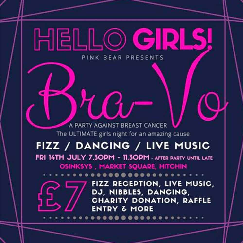 Bra Vo Night U2013 Hello Girls, Bra Vo Night. Fizz / Dancing / Live Music. £7.00